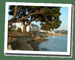 seaside holiday rentals Larmor-Baden
