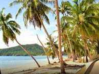 camping bord de mer  Huahine