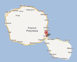 seaside map Afaahiti-Taravao
