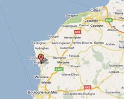 seaside map Ambleteuse