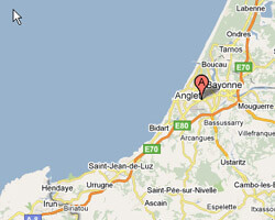 carte littoral Anglet