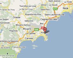 seaside map Antibes Juan-les-Pins