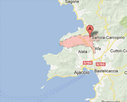carte littoral Appietto