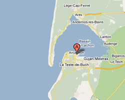 image map Arcachon