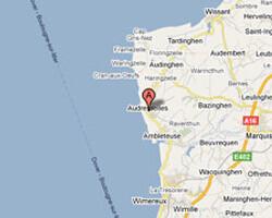 seaside map Audresselles