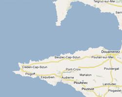 carte littoral Baie de Douarnenez