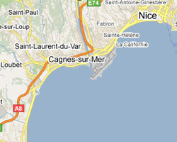 carte littoral Baie des Anges