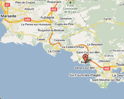 seaside map Bandol