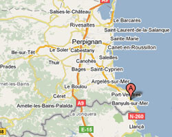 seaside map Banyuls-sur-Mer