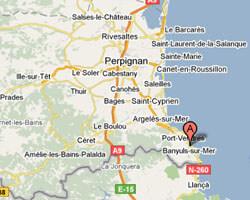 carte littoral Banyuls-sur-Mer