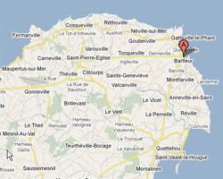seaside map Barfleur
