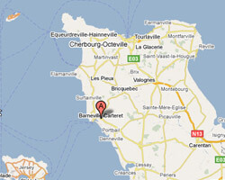 image map Barneville-Carteret