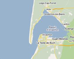 carte littoral bassin_d_arcachon