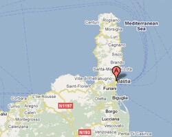 carte littoral Bastia