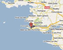seaside map Batz-sur-Mer