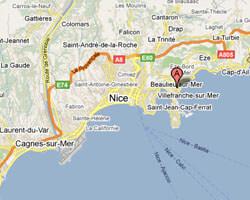 carte littoral Beaulieu-sur-Mer
