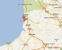 seaside map Berck-Plage