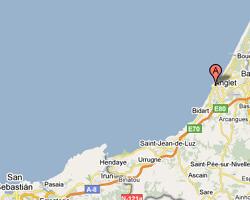 carte littoral biarritz