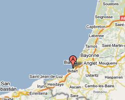 carte littoral Bidart