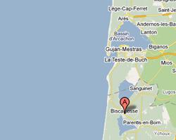 carte littoral biscarrosse_plage
