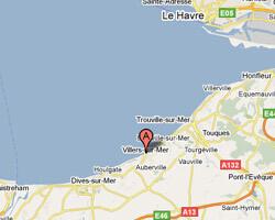 seaside map Blonville-sur-Mer