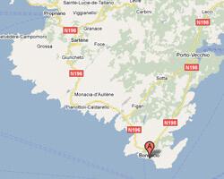 carte littoral bonifacio