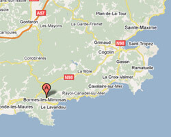 seaside map Bormes-les-Mimosas