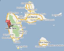 seaside map Bouillante