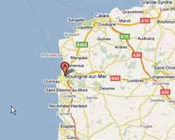 seaside map Boulogne-sur-Mer