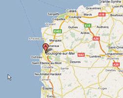 seaside map Boulogne-sur-Mer
