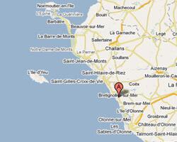 seaside map Brétignolles-sur-Mer