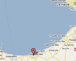carte littoral Cabourg