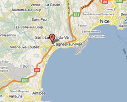 seaside map Cagnes-sur-Mer