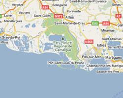 carte littoral camargue