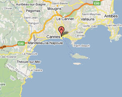 carte littoral Cannes