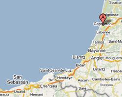 carte littoral Capbreton