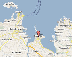 Carte Bretagne Carantec.Hotels Vue Mer Carantec