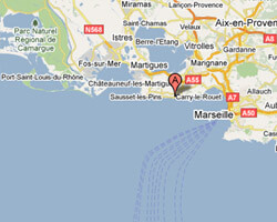 carte littoral Carry-le-Rouet
