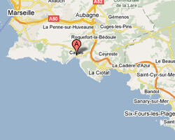 carte littoral cassis
