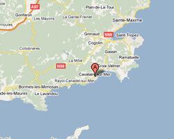 carte littoral Cavalaire-sur-Mer