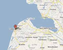 seaside map Cayeux-sur-Mer