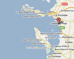 carte littoral Chatelaillon-Plage