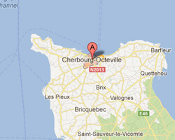 carte littoral Cherbourg
