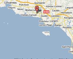 carte littoral Clohars-carnoët