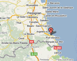 carte littoral collioure