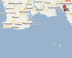 carte littoral Concarneau
