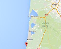 seaside map Contis-les-Bains