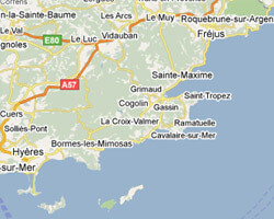 seaside map Corniche des Maures
