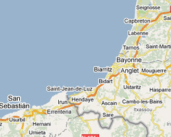 carte littoral Pays Basque
