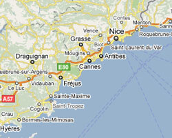 image map French Riviera